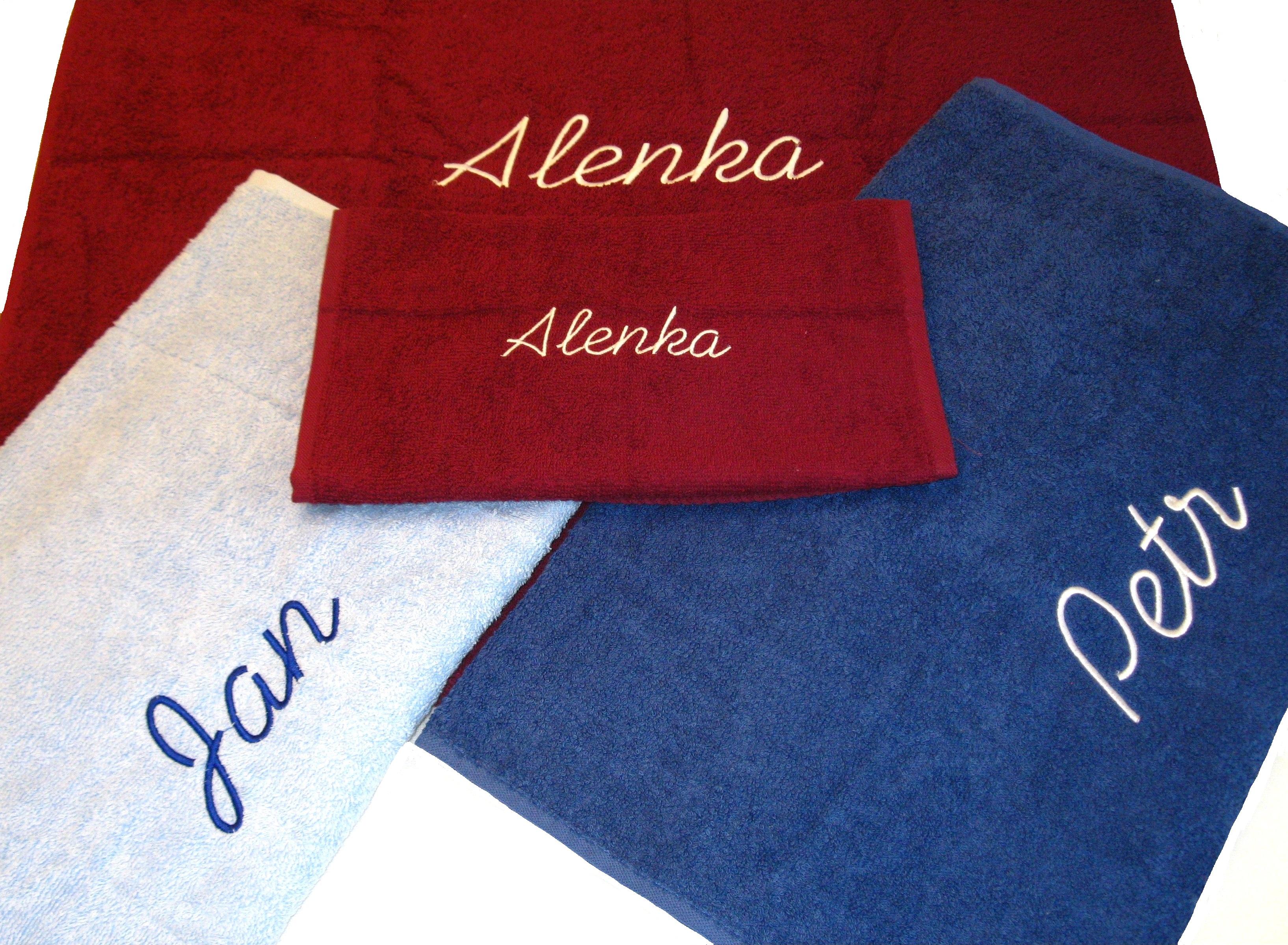 Froté ručníky a osušky se jménem (přezdívkou)